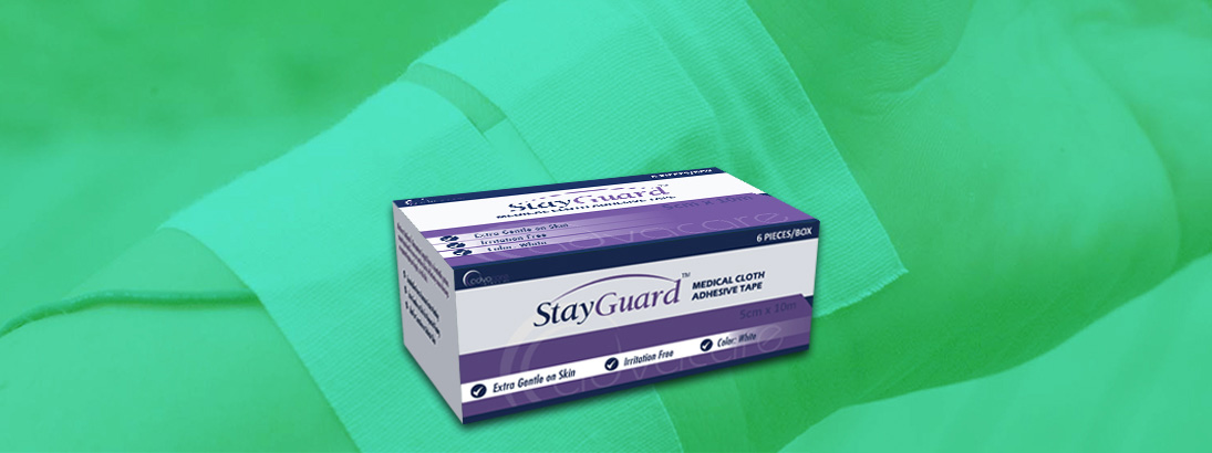 StayGuard Skin & Wound Care Medical Cloth Adhesive Tape Usage