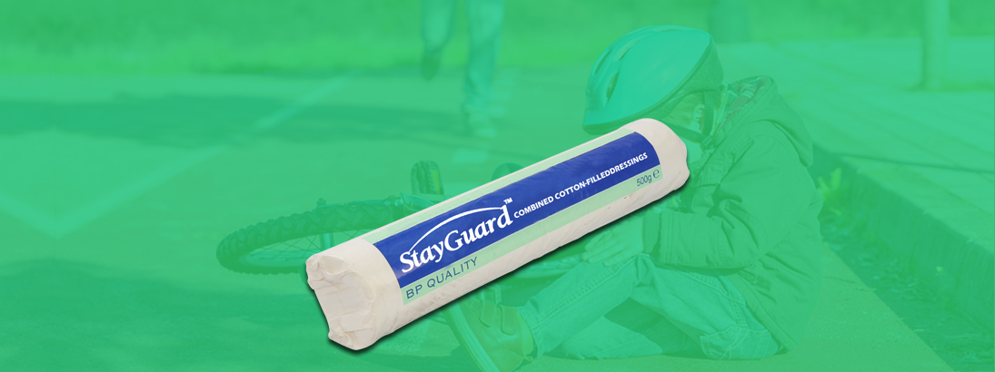 StayGuard Skin & Wound Care Combined Cotton-Filled Dressing Usage