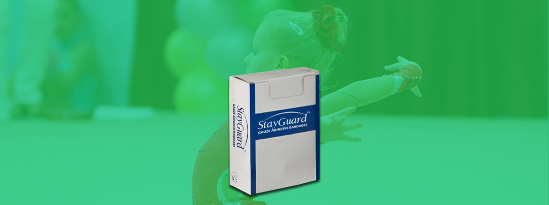 StayGuard Skin & Wound Care Gauze Adhesive Bandage Usage