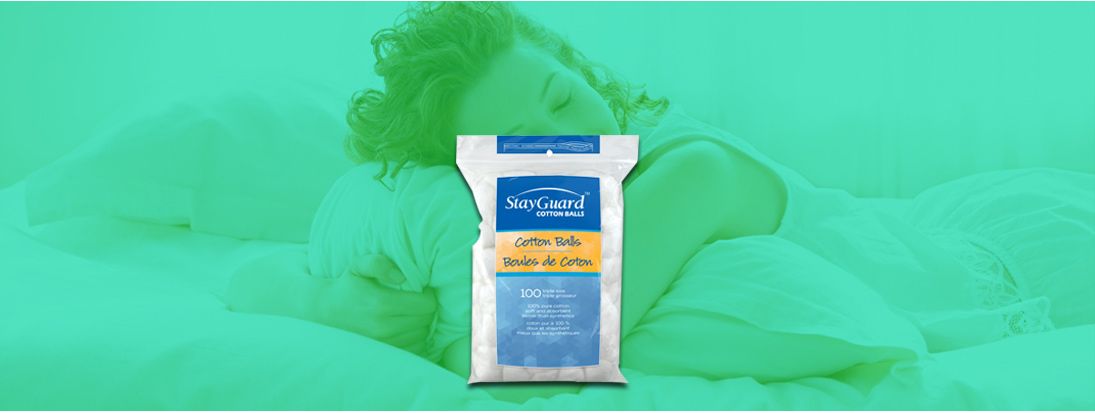 StayGuard Skin & Wound Care Cotton Balls Usage