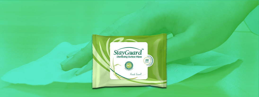 StayGuard Skin & Wound Care Disinfecting Surface Wipes Usage