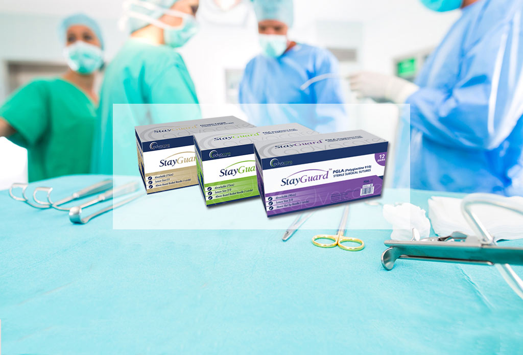 StayGuard Skin and Wound Care surgical sutures